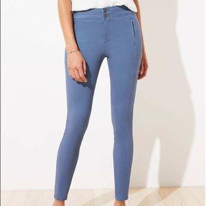 LOFT NWT Petite High Waist Skinny Sateen Pants